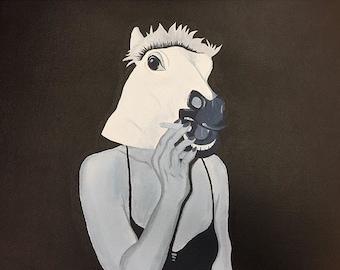 Horse Head Woman