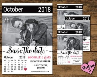 DIGITAL COPY Personalised Wedding Save The Date Invites Invitations