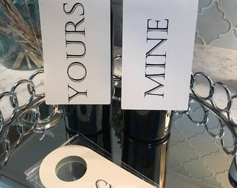 Yours and Mine Wine Tag Set