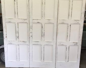 Custom Handmade Repurposed Three Panel Headboard