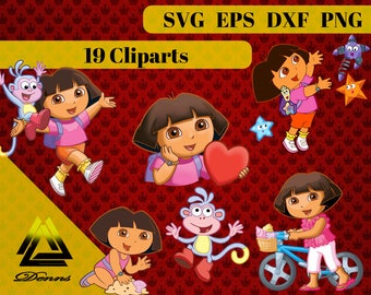 Dora the explorer Clipart –19 (Svg, Eps, Png, Dxf Files) 300 PPI, Vectorial Images, Dora svg, T-Shirt Design, Dora Printable, dora decor