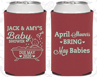 Spring Baby Shower, Beer Baby Shower Ideas, April Showers bring May Babies, Expecting Announcement (90181)