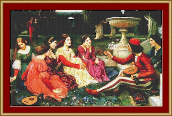 A Tale From The Decameron Cross Stitch Pattern /Digital PDF Files /Instant downloadable