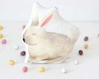 White Easter Bunny Toy Easter Baby Gift Easter Basket Gift Easter Bunny