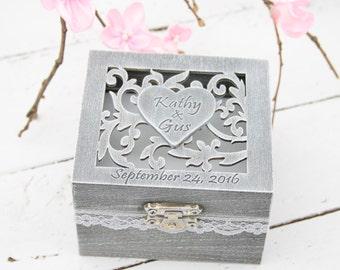 Ring Bearer Box, Wedding/Engagement Ring Box, Personalised Wedding Ring Box, Ring Bearer Pillow,Rustic Wedding Ring Holder,Pillow Bearer Box