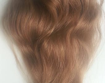 "14"" Medium Golden Blonde Human Hair Extension Fine Silky Wavy Texture Remy Virgin Raw (3a)"