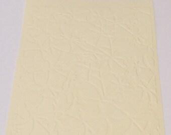 10 Floral Screen Embossed Cardstocks