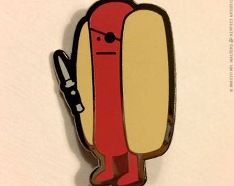 Diabolical Hot Dog Deluxe Enamel Pin