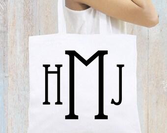Monogrammed Personalized Tote Bag, Bridal Tote Bag, Bridesmaid Gift, Monogrammed Gift, Personalized Beach Totes, Personalized Bridesmaid Bag