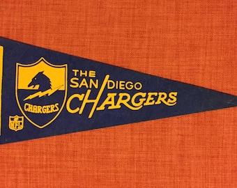 Vintage San Diego Chargers Mini Pennant