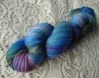 """Hand Dyed Yarn Merino Cashmere Nylon Sock """"Iris"""""""