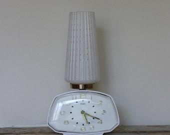 Metamec Electric Alarm Clock with Bedside Lamp