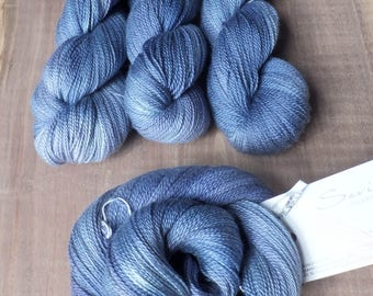 Delft - Hand Dyed Silk Cashmere Lace Yarn