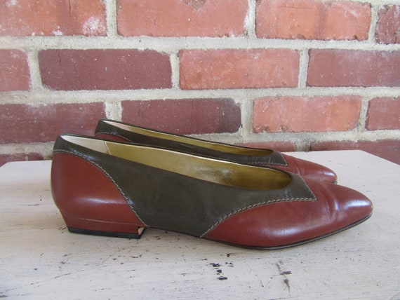 f6512b74d242e Heel ballet Flats Size 90s Leather Janes Ellis Leather Perry Pumps ...