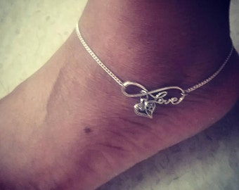 Kalila Eternal Love Sterling Silver Anklet