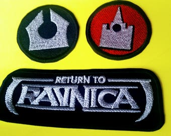 Magic the Gathering - Unofficial - Ravnica Guild Inspired Iron On Embroidered Patches / Badges - TCG - MTG - Mana Symbols