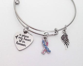 Miscarriage bracelet memorial bracelet miscarriage bracelet miscarriage gift pregnancy loss miscarriage jewelry baby loss miscarriage grief memorial bracelet memorial gift aloadofball Images