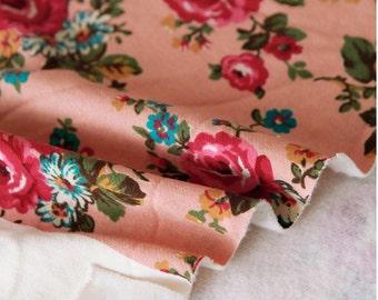 Geborsteld Franse Terry Knit stof Rose Indi roze
