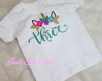 Unicorn Birthday Tshirt