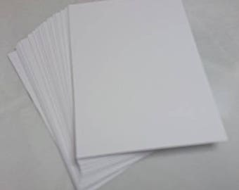 ATC / Artist Trading Card Blanks - 300gsm Quality White Card x100