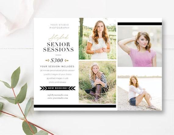 DIY Senior Template Mini Session Template Senior Portrait - Mini brochure template