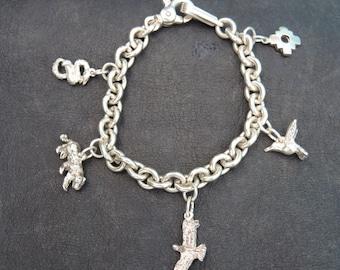 Handmade Silver Munay- Ki Charm Bracelet