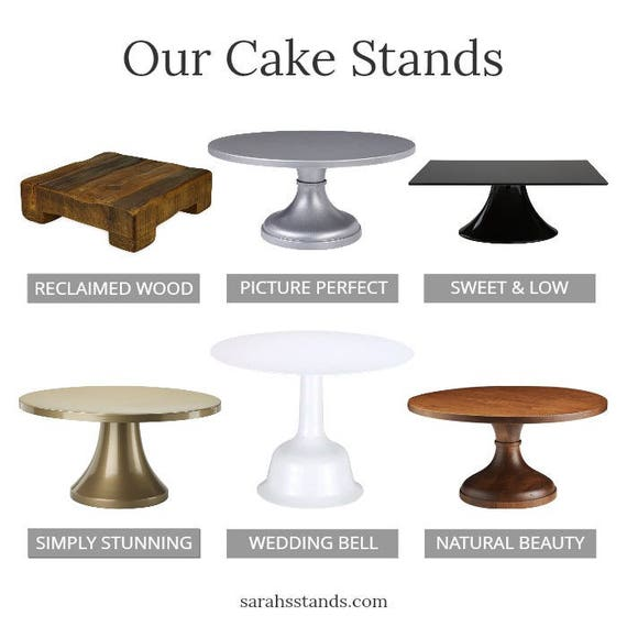 Black Cake Stand | 14inch | Free Shipping | Wedding Cake Plate | Tall Round Cake Plate | Dessert Bar - As seen in Martha Brides \u0026 The Knot  sc 1 st  Etsy & Black Cake Stand 14inch Free Shipping Wedding Cake Plate
