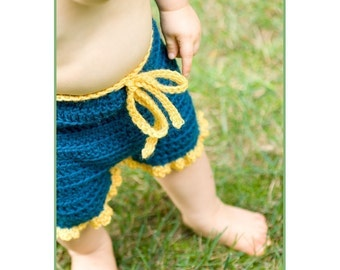 Crochet Pattern--Ruffle Bum Shorties or Longies
