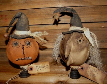 My Primitive Halloween Jack and Olde Hag Make-do pattern