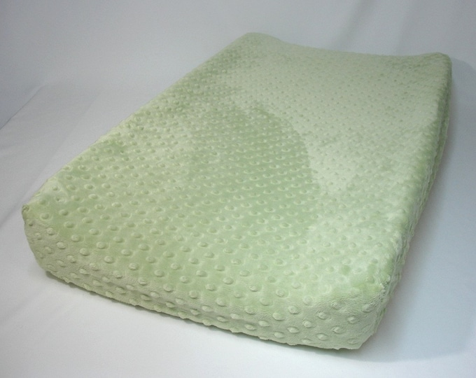 Green Changing Pad Cover Sage