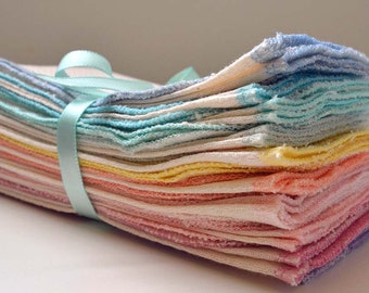 SECONDS  11x12 inches 1PLY  Organic  Paperless Towels, or Napkins , Pack of 10 - Great Bargain - Size 11x12 inches