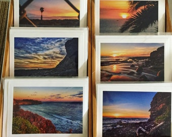 Frameable blank photo greeting cards