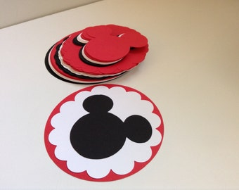 DIY Mickey Mouse Birthday Banner, Birthday Steamers, DIY Banner or Steamer, Mickey Mouse Clubhouse Decorations