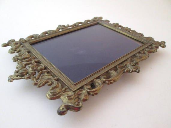 Frame Set, Vintage, 4x6 frame, Brass Picture Frame, Italy frame ...