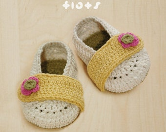 Crochet Pattern Baby Ballerina Flats Baby Booties Newborn Flower Shoes Preemie Ballerina Crochet Patterns Flower Applique Baby Socks Sandals
