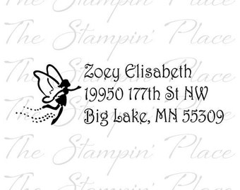 Custom Address Stamp - Fairy Address PR148
