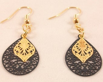Chic and romantic earrings plated gold