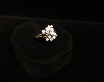 Ladies 14k Gold, 1ct Diamond Dinner Ring