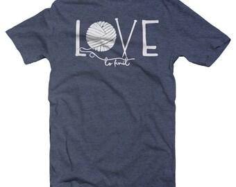 Love Knitting, Knitting Shirt, Knitting Love, Love Yarn, Knitter Gift, Gift for Knitter, Knitting Lovers, Knitting Tshirt,  Knitting Gifts