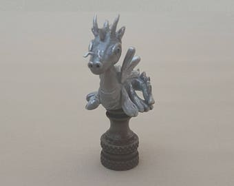 Dragon Lamp Finial...Hand Crafted in Custom Colors