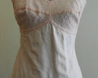"1950's, 36"" bust, cotton pink brocade girdle."
