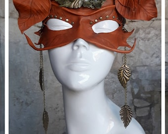 Leaves leather mask