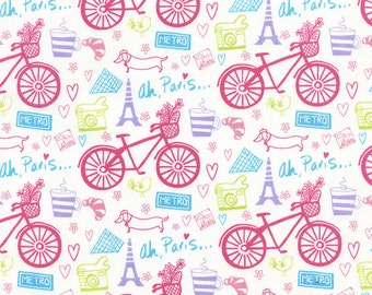 Bikes Fabric -  yard Cut - Timeless Treasures - Cotton Fabric - Quilting Fabric