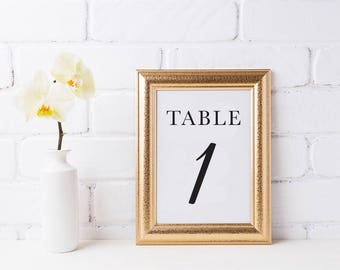 Printable Table Numbers, Black and White Table Numbers Wedding, Instant Download, Table Numbers 1-30