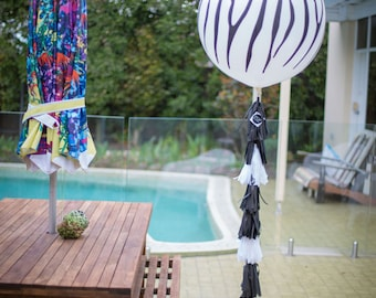 Giant Zebra Balloon with Tassel