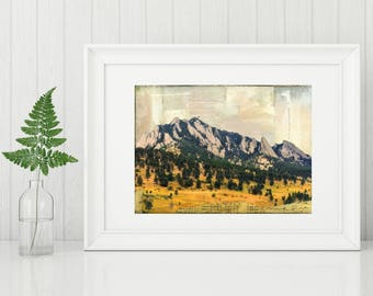 "Colorado Print, Colorado Art, Boulder Print, Mountain Print, Boulder CO print, Flatirons print, 8""x10"" or 11""x14"" Print ""Meet me in Boulder"""