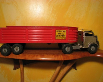 Vintage Structo Steel Company Truck and Trailer