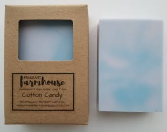 Cotton Candy - Kids Soap - Shea Butter - All Natural - Farmhouse - Fresh  - Natural Soap - Cotton Candy Soap - Fun Soap - Handmade Soap