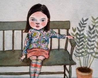 """Original artwork """"Waiting..."""""""