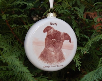 Pet Photo Ornament, 3 inch Round Ornament with Your Photo, Custom Photo Ornament, Christmas Photo ornament, picture ornament, Pet Memorial